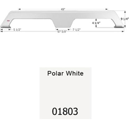 Picture of Icon  Polar White Tandem Axle Fender Skirt For Gulfstream Brands 01803 15-1656