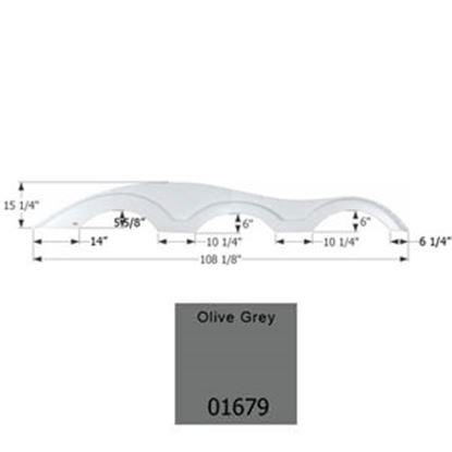 Picture of ICON  Olive Grey Triple Axle Fender Skirt For Various Keystone Brands Including Raptor 01679 15-1773