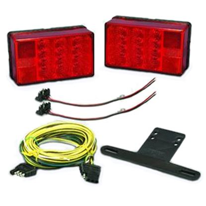 """Picture of Bargman  Red 6""""x3-1/2""""x2-1/4"""" LED Tail Light 31-407560 18-0087"""