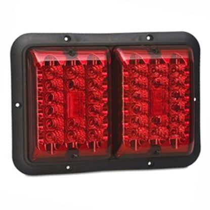 """Picture of Bargman 84 Series Red 9-13/16""""x6-15/16""""x1-1/4"""" LED Stop/ Tail/ Turn Light 48-84-527 18-0141"""