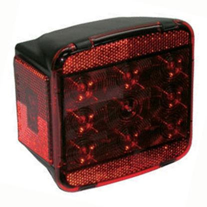 """Picture of Peterson Mfg.  Red 5.04""""x4.72"""" LED Stop/ Turn/ Tail/ License Light V840L 18-0382"""
