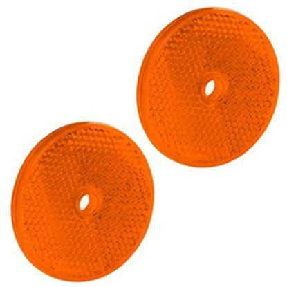 "Picture of Bargman  2-Pack 2-3/16"" Round Amber Screw Mount Reflector 74-71-175 18-0396"