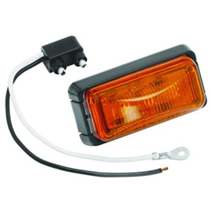 """Picture of Bargman  Amber 2.6""""x1.2""""x1.03"""" LED Side Marker Light 42-37-402 18-0455"""