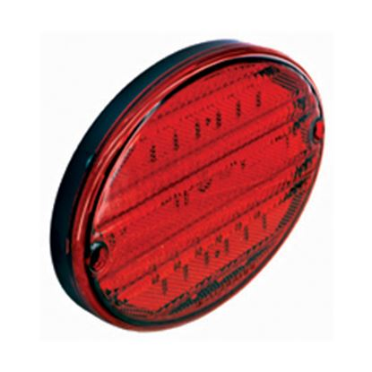 "Picture of Diamond Group  Red 8-3/8""x5-5/8""x7/8"" 52-LED Stop/ Turn Light DG52448PB 18-2228"