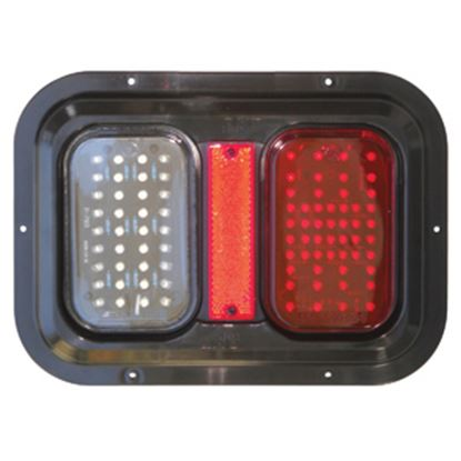 "Picture of Diamond Group  Amber/Red 11""x8""x1-1/4"" 104 LED Stop/ Turn/ Tail Light DG52721PB 18-2290"