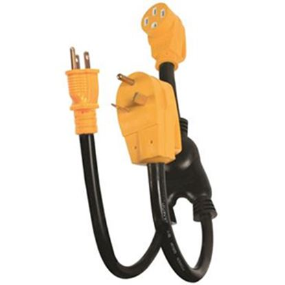 Picture of Camco PowerMax 15A/30A To 45A Y Power Cord Adapter 55025 19-0502