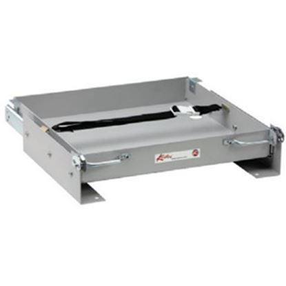"""Picture of Kwikee  15-1/8""""L x 15-1/2""""W x 2-3/4""""H Steel Battery Tray for 1-8 Batteries 366486 19-0725"""