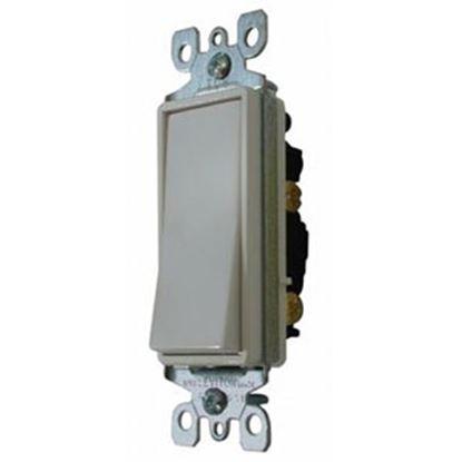Picture of Diamond Group  White 120-277V/ 15A Single Pole Rocker Switch DGSC10VP 19-1389
