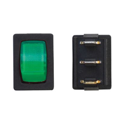 Picture of Diamond Group  Green/ Black 125V/ 16A SPST Lighted Rocker Switch For Water Pumps DG238VP 19-2080