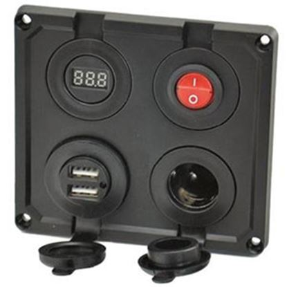 Picture of Prime Products  Black 12VDC Indoor Receptacle 08-5044 19-4587