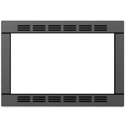 "Picture of Contoure  20-1/2""W x 15""H Black Microwave Oven Trim Kit RV-TRIM9B 19-9090"