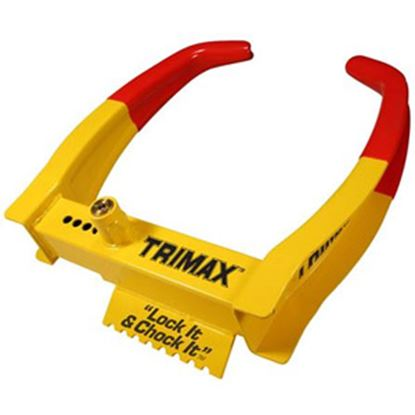 """Picture of Trimax Locks  Lock it and Chock it!"""" Wheel Chock Lock TCL75 20-0426"""