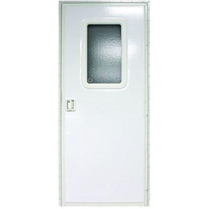 "Picture of Lippert  Polar White Left Opening 24""W x 70""H Square Entry Door V000042628 20-1201"
