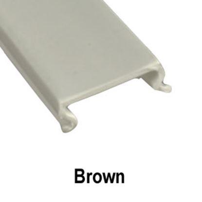 "Picture of AP Products  5-Pack Brown Plastic 5/8""W X 8'L Trim Molding Insert 011-360-5 20-1547"