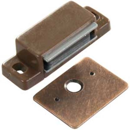 Picture of JR Products  2-Pack Brown Flat Strike Side Mount Magnetic Catch 70265 20-1891