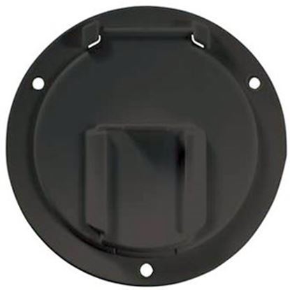 Picture of RV Designer  Black Round Cable Hatch Access Door B133 20-2064