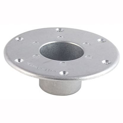 "Picture of AP Products  6"" Chrome Round Flush Mount Table Leg Base 013-1112 20-3711"