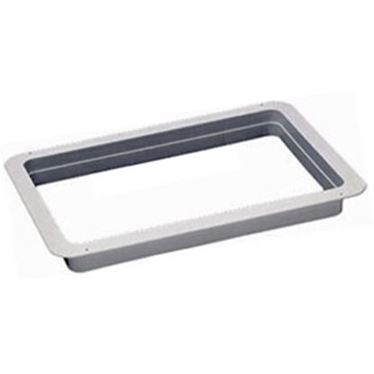 """Picture of Heng's  White 2-3/8"""" Deep for 13""""x20"""" Opening Radius Roof Vent Garnish 90035 22-0172"""