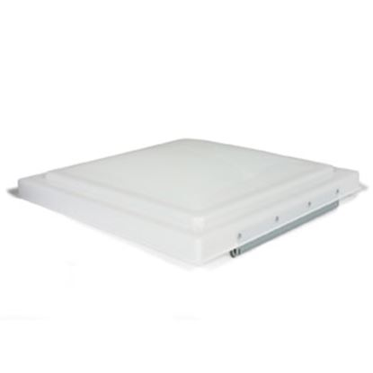 """Picture of Camco  White Polypropylene 14"""" x 14"""" Old Ventline/ Elixir Style Roof Vent Lid 40155 22-0201"""