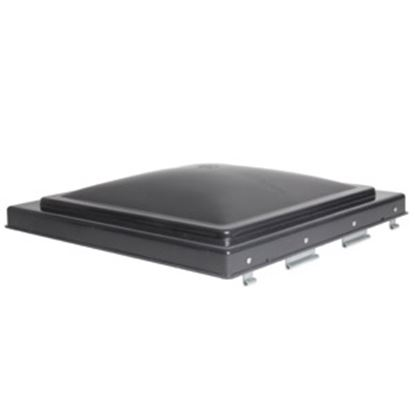 """Picture of Camco  Smoke Polypropylene 14"""" x 14"""" Jensen Style Roof Vent Lid 40147 22-0204"""