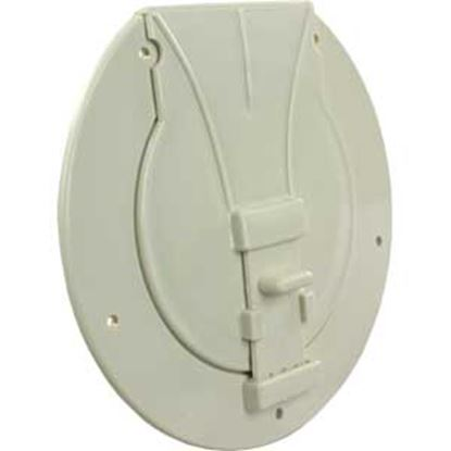 "Picture of JR Products  Colonial White 3-27/32""RO Utility/ Awning Pole Storage Access Door S-25-14-A 22-0548"