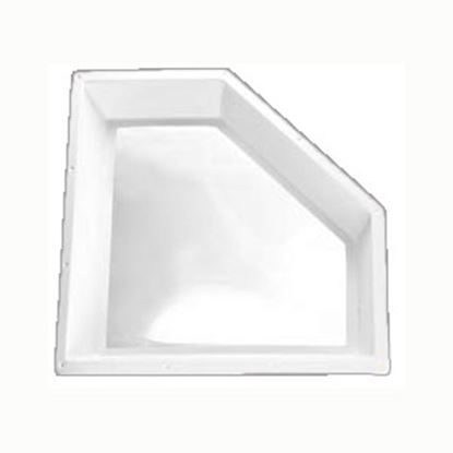 """Picture of Specialty Recreation  4""""H Bubble Dome Neo Angle White PC Skylight w/27"""" X 14.5"""" Flange NSL2412W 22-0708"""