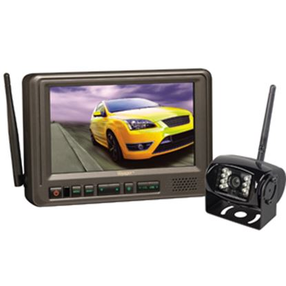 """Picture of Voyager  Black +/-60 Deg Back Up Camera w/7"""" LCD Display WVOS713 24-3210"""
