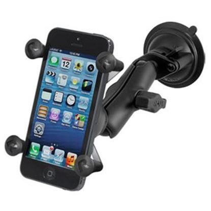 Picture of RAM Mounts  Black Suction Cup Mount Phone Holder for iPhone/ iPod/ Smartphone RAM-B-166-UN7U 25-1209
