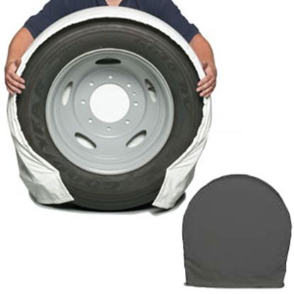 "Picture of CoverCraft SnapRing TireSavers Set of 2 Black Vinyl 40""-42"" DiaTire Covers ST7005BK 46-0055"