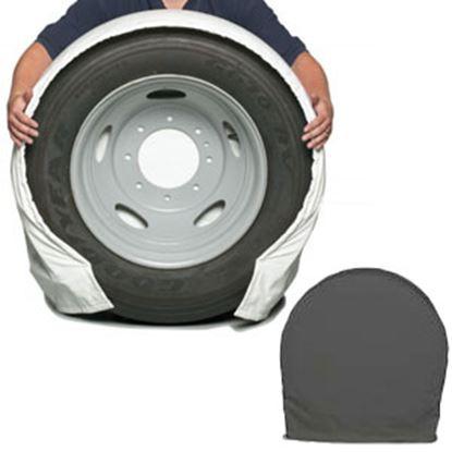 "Picture of CoverCraft SnapRing TireSavers Set of 2 Black Vinyl 24""-26"" DiaTire Covers ST7000BK 46-0059"