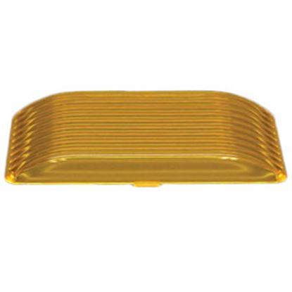 Picture of Gustafson  Amber Rectangular Lens For Gustafson Porch Lights GSAM4028 69-5186