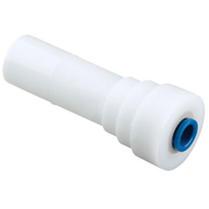 """Picture of Sea Tech 24 Series 1/2"""" Male CTS x 1/4"""" Female QC OD Tube White Plastic Fresh Water Straight Re 012414-1004 69-7147"""