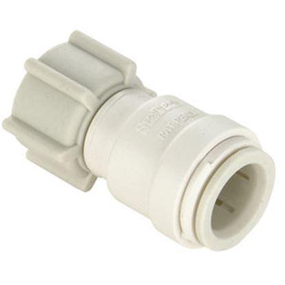 "Picture of Sea Tech 35 Series 1/2"" Fem QC Copper Tube x 3/4"" FGHT Swivel Nut Off-White Polysulfone Fresh W 013510-1014 69-7150"