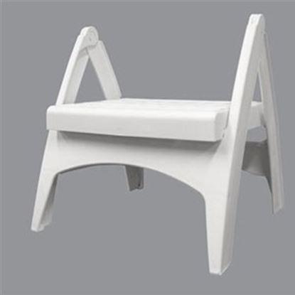 "Picture of Adam's Quik-Fold (R) 13-3/4""H White Polypropylene Folding Step Stool 8530-48-3730 69-8344"