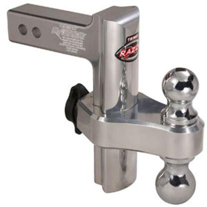 "Picture of Trimax Locks  Class III/IV 2"" 10K 8"" Adj Drop/ Lift Aluminum Double Ball Mount TRZ8AL 69-8355"