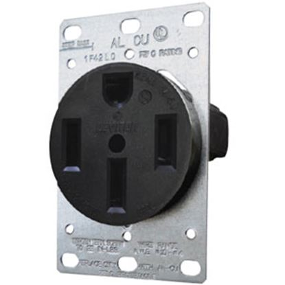 Picture of Diamond Group  Black 125V/ 50A Indoor/ Outdoor Single Receptacle DG50VP 69-8802