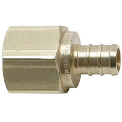 """Picture of BestPEX  1/2"""" Hose Barb x 3/4"""" FPT Brass Fresh Water Straight Fitting 41129 69-9004"""