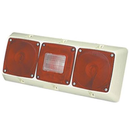 "Picture of Grote  Red/White 14-13/16""x5-7/8"" Stop/ Turn/ Tail Light 51342-5 69-9068"