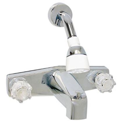 "Picture of Phoenix Faucets  Chrome w/Clear Knobs 8"" Lavatory Faucet PF214349 69-9476"