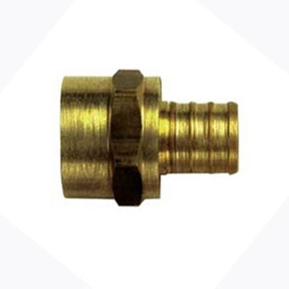 "Picture of BestPEX  3/4"" Hose Barb x 3/4"" FPT Brass Fresh Water Straight Fitting 41130 88-9111"