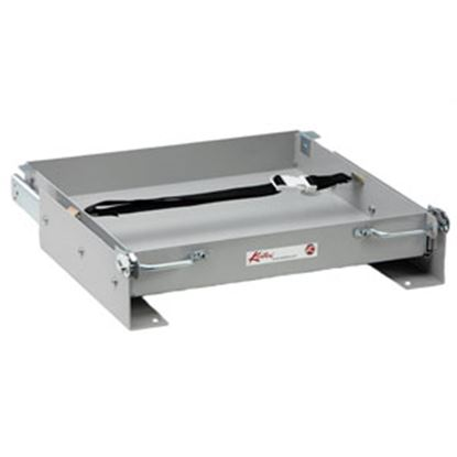 """Picture of Kwikee  15-1/8""""L x 15-1/2""""W x 3-3/8""""H Steel Battery Tray for 1-8 Batteries 366333 92-0310"""