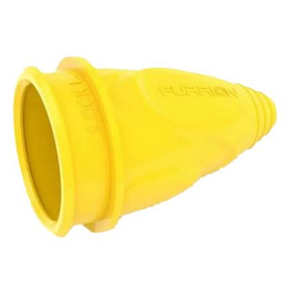 Picture of Furrion  Yellow Colored 30A Power Cord Adapter Cover w/ Threaded Ring 381673 95-3529